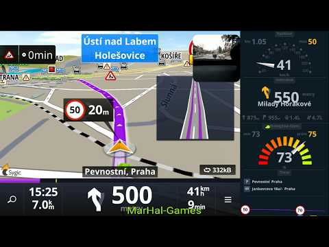 Test App Map Sygic Car Navigation - Offiline Mapy - Android & IOS - Shot At SONY XPERIA XA2 ULTRA