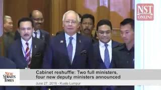 Cabinet reshuffle: Two full ministers, four new deputy ministers announced