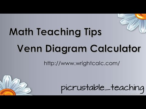 Math Teaching Tips : Venn Diagram Calculator  WrightCalc