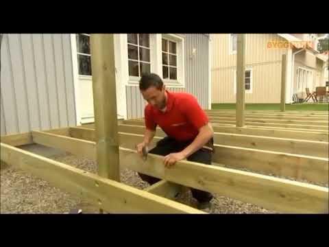 Как построить террасу к дому своими руками пошаговая инструкция видео