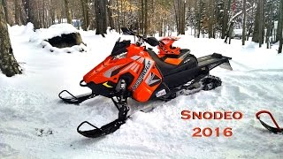 2017 Polaris Assault first ride and sled in a pond