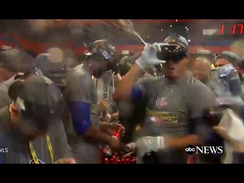 Chicago Cubs Locker Room Celebration | World Series 2016 - YouTube