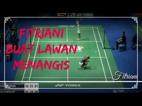 FITRIANI BUAT LAWAN MENANGIS Swiss Open 2017 QF WS Fitriani FITRIANI vs Mia BLICHFELDT