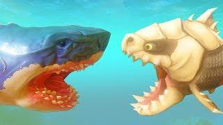 ПИРАНЬЯ ДИНОЗАВР ПРОТИВ МЕГАЛОДОНА | Feed and Grow Fish