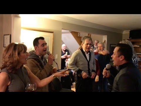Karaoke Fun for the Birthdays at the Reindorf's - Feb 17, 2018