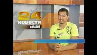 Чемпион России по боксу Артем Чеботарев в студии РЕН ТВ-Саратов