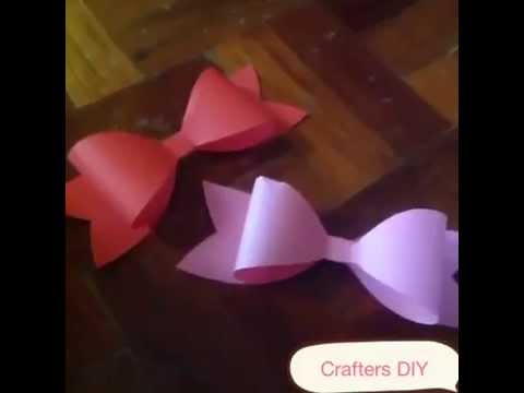 Diy paper bow free template crafters diy youtube diy paper bow free template crafters diy maxwellsz