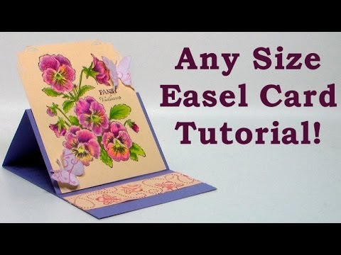 How To Make Any Size Easel Card Youtube