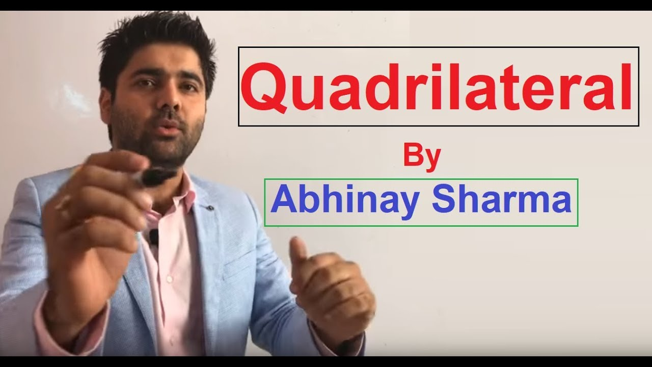 Geometry Part 21 - Quadrilateral By Abhinay Sharma SSC CGL Mains 2017  (Abhinay Maths)