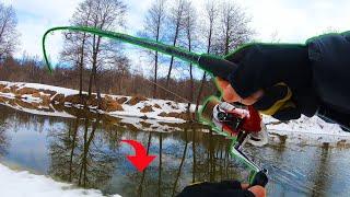 Ловля Щуки на Спиннинг Удачная рыбалка на малой реке весной 2021