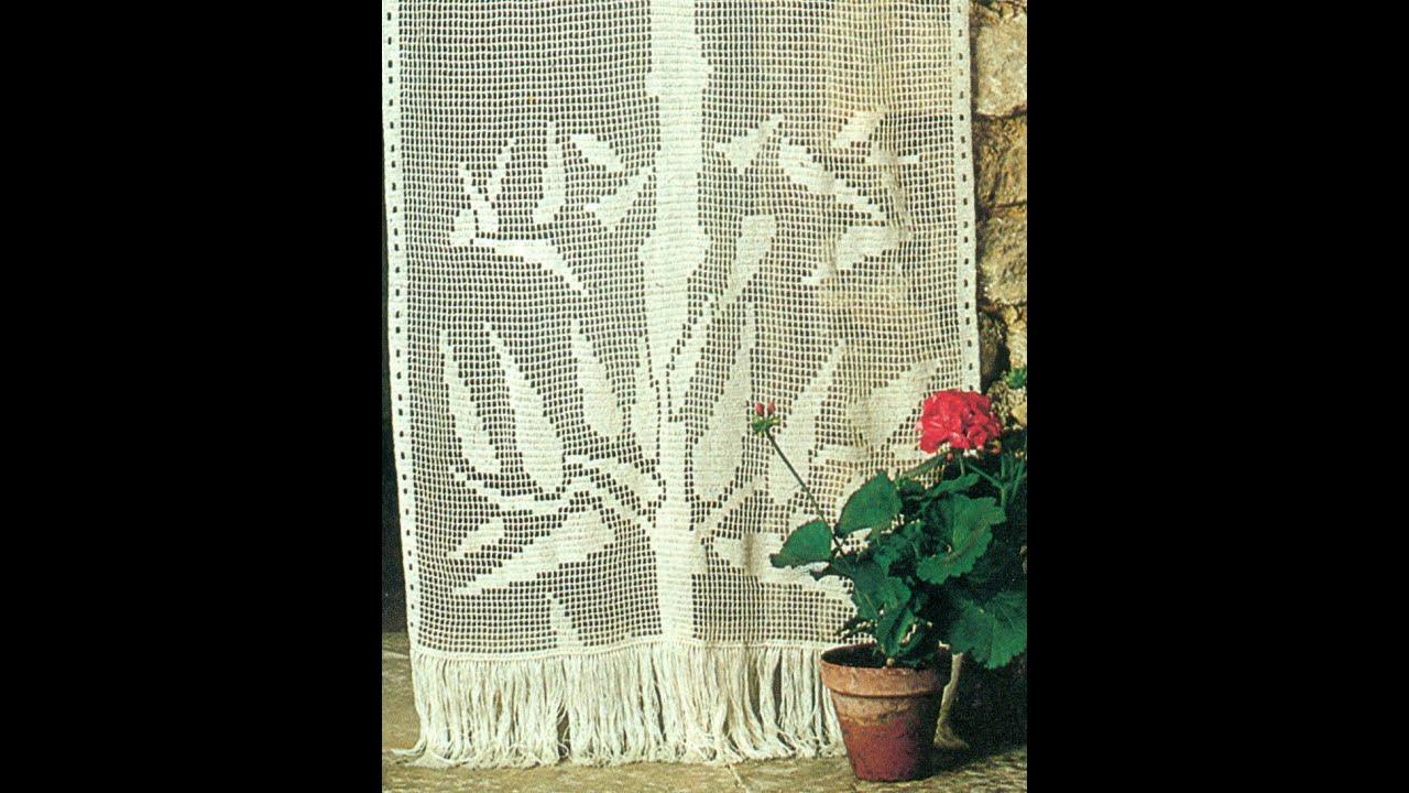 Esquemas para tejer cortinas con ramas a crochet youtube for Argollas con pinzas para cortinas