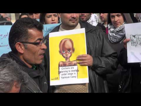 Protest in Support of Yarmouk Refugee Camp in Amman, Jordan