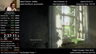 The Last of Us Speedrun World Record! (2:37:11) on Easy mode (Any% NG+)