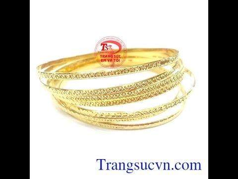 Vòng tuần vàng tây đẹp|Vòng vàng tuần, vòng tay 7 chiếc đẹp-TSVN010847