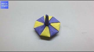 陀螺摺紙教學 - 如何用一張紙就可以製作一個好玩的折紙玩具 復古童玩