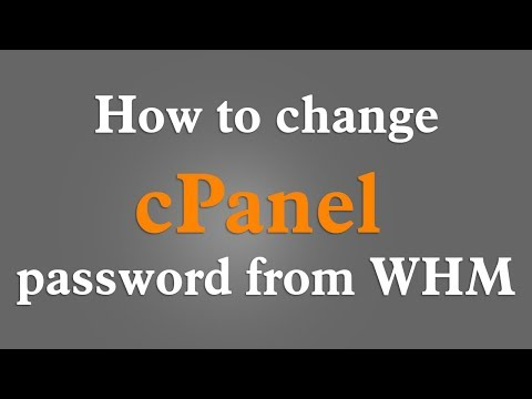 How to change cPanel password in WHM 2018 - English