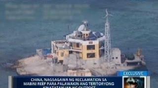 Outpost ng China sa Mabini Reef, may anti-aircraft artillery at machine gun