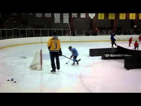 Jessica skating w/ her favorite player, Seth Jones