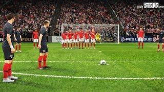 PES 2019   CROATIA vs ENGLAND   Free Kick Goal & Amazing Goals   Gameplay PC