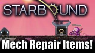 Starbound 1.3 Custom Creations: Mech Repair Items!