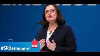 Parteitag in Wiesbaden: Andrea Nahles mit nur 66 Prozent zur SPD-Vorsitzenden gewählt