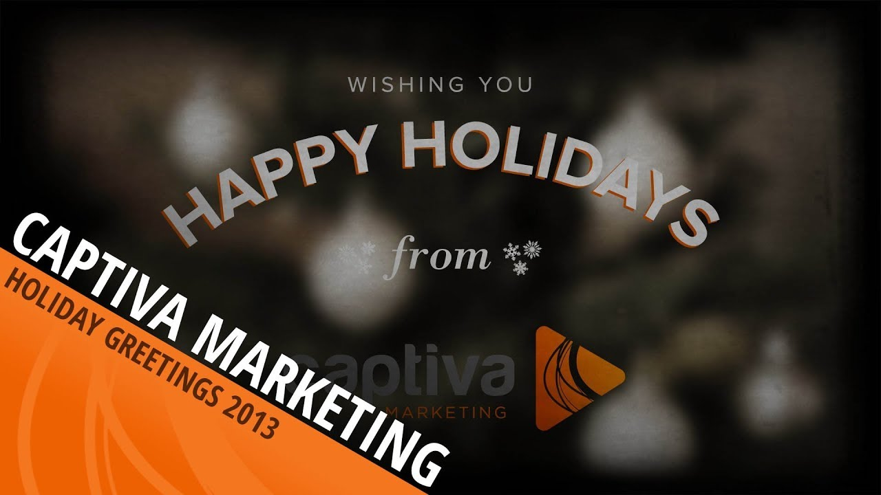 Holiday Greetings From Captiva Marketing Youtube