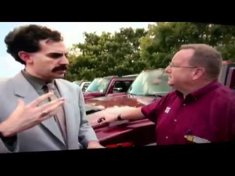 Borat buying a car