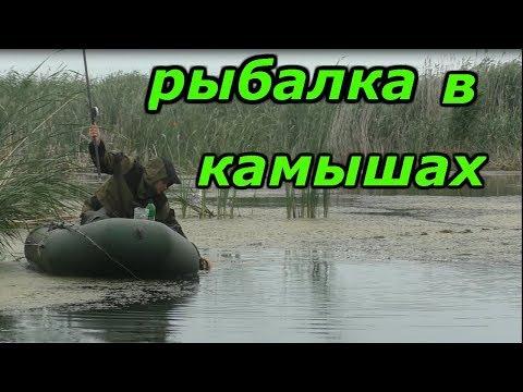Рыбалка в камышах на поплавок.Рыбалка с ночёвкой.Рыбалка на карася с лодки