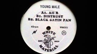 Young Male - Black Satin Fan