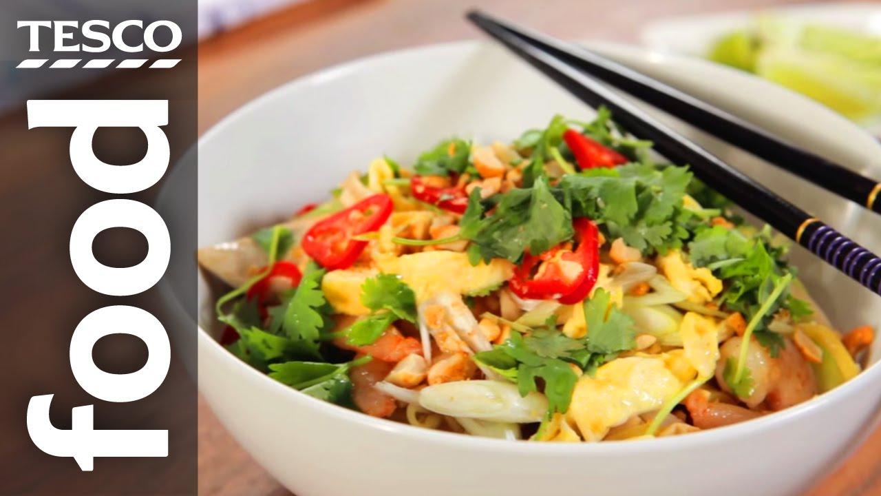 How To Make Pad Thai Tesco Food Youtube