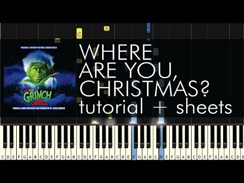 Faith Hill - Where Are You, Christmas? - Piano Tutorial + Sheets