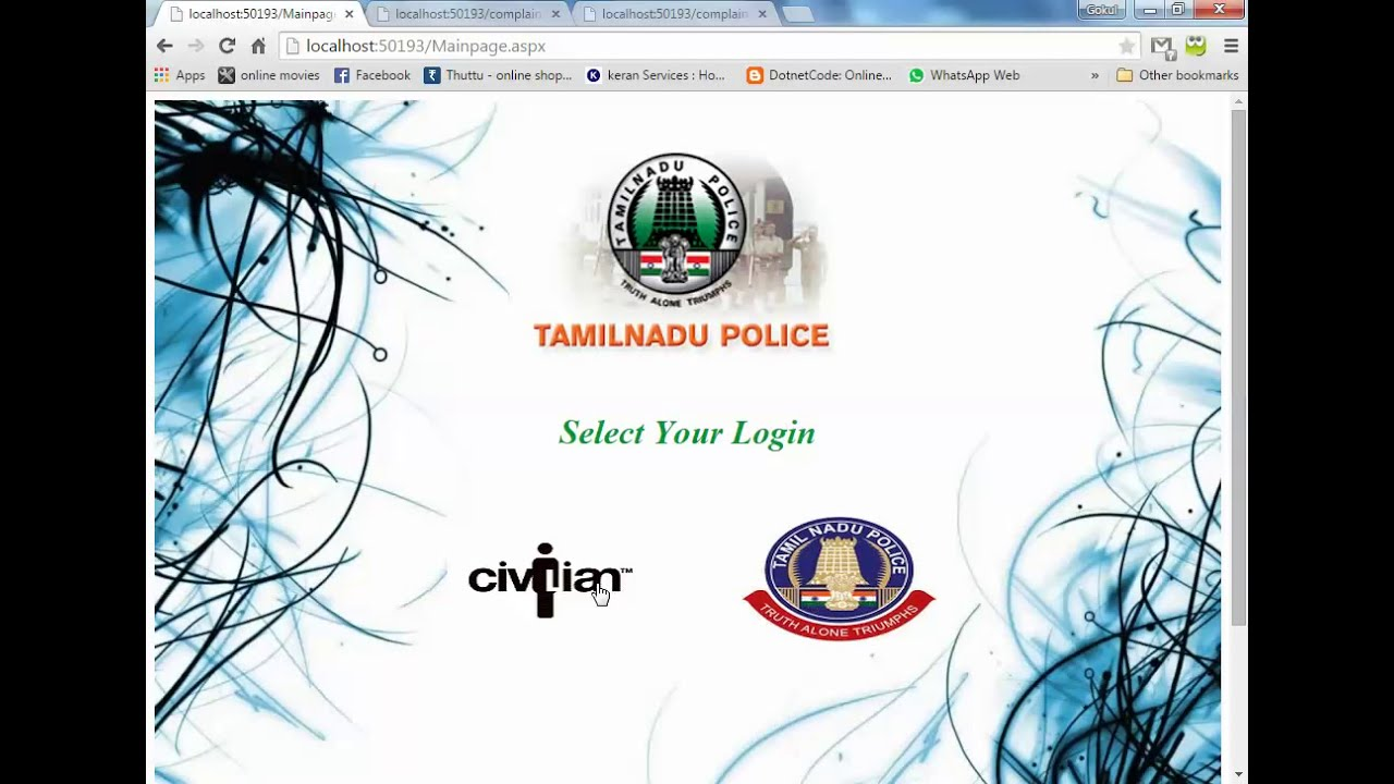 Online Crime Management System Youtube