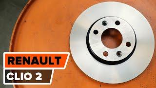 Bruksanvisning: Hvordan bytte Fremre bremseskiver, Fremre bremseklosser på RENAULT CLIO 2