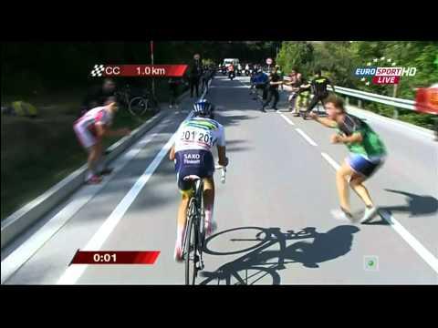 Albero Contador Winner Vuelta stage#17 - Santander - Fuente Dé! HD