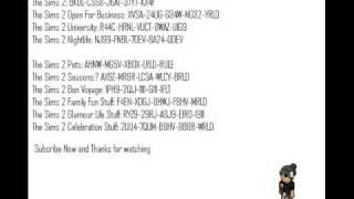 Sims 2 installation code and cheats ( Read Description )