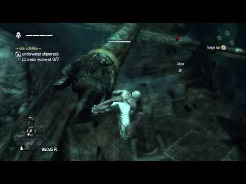 Assassin's Creed 4 - Underwater Shipwreck - The Blue Hole