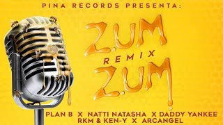 Zum Zum (Remix) 🐝🍯 - Plan B, Natti Natasha, Daddy Yankee, Rkm & Ken-Y, Arcangel [Lyric Video]