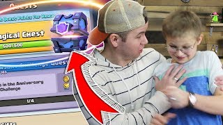 MY SON almost DESTROYS my SUPER MAGICAL QUEST Chest - Clash Royale Insane Opening