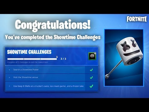 SHOWTIME CHALLENGE GUIDE! Use Keep It Mello at a Trucker's Oasis, Ice Cream Parlor and a frozen lake