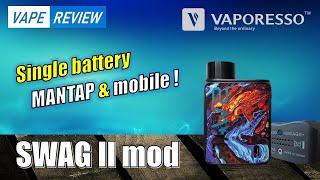 Review Swag II M๐d single baterai yang mantap dan mobile !by Dikwan Vape