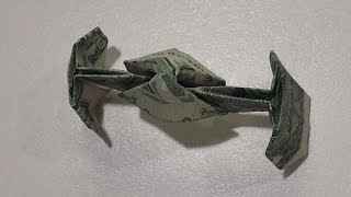 Star Wars TIE Fighter Tutorial - How to fold a Dollar Origami TIE Fighter