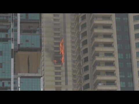 Wolkenkrabber Dubai in brand