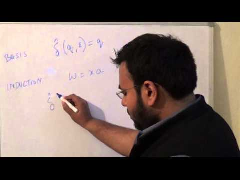 L3 Automata Theory, Extended Transition Function, hindi