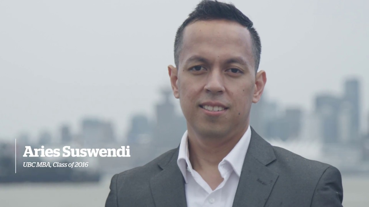 Video thumbnail for Meet Aries Suswendi - UBC Professional MBA
