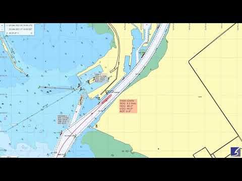 suez canal ship stuck map