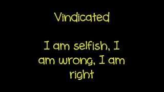 Dashboard Confessional Vindicated Lyrics