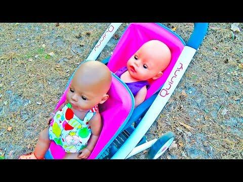 Куклы Беби Бон и коляска для кукол. Cобираем и гуляем. Игры с куклами. Dolls Pram Stroller
