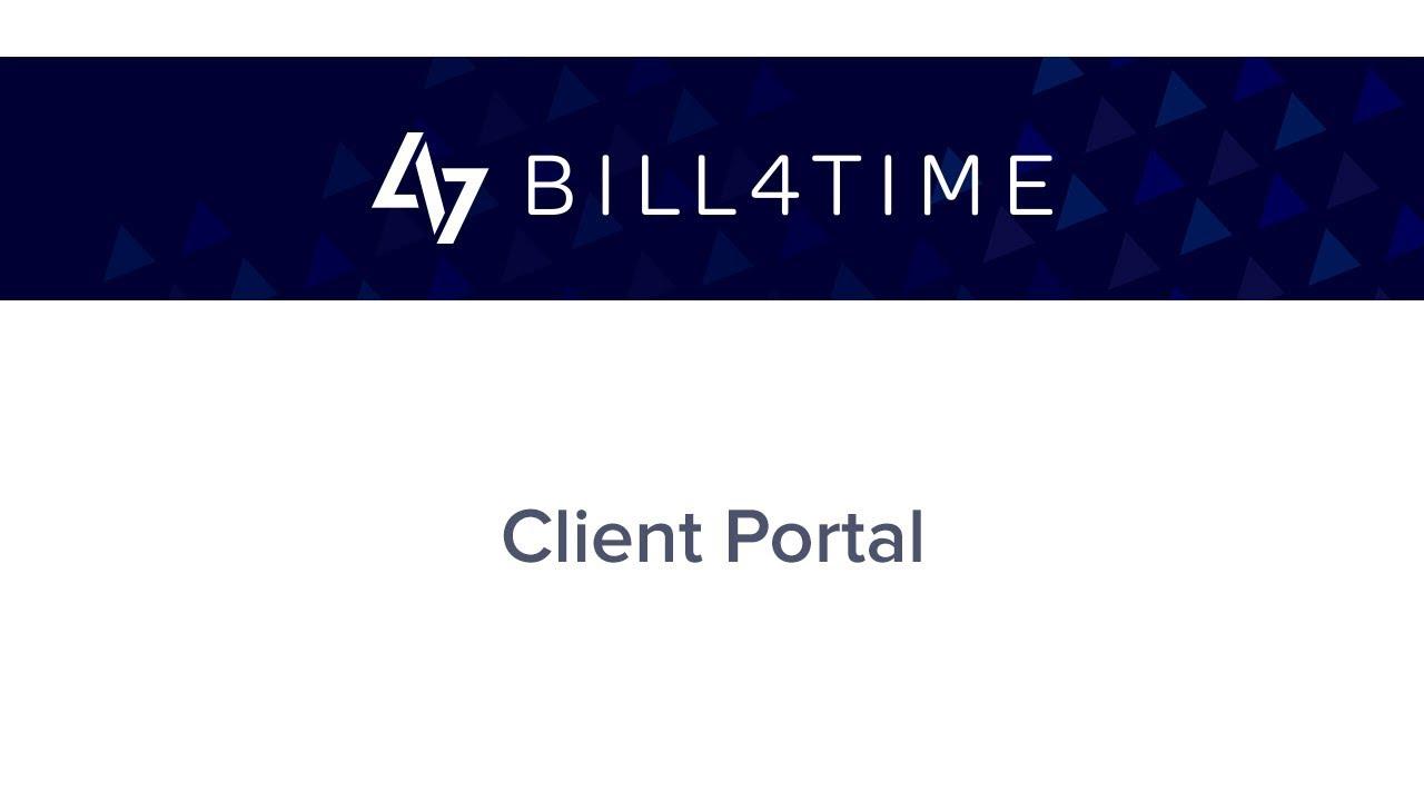 Bill4Time:  Client Portal