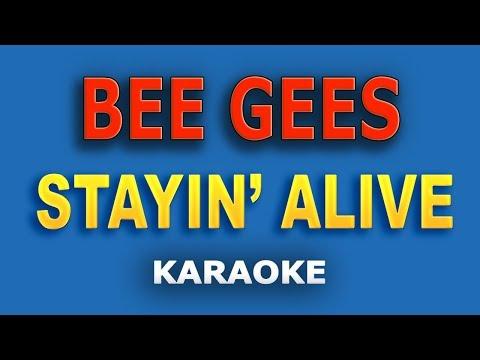 Bee Gees - Stayin' Alive LYRICS Karaoke