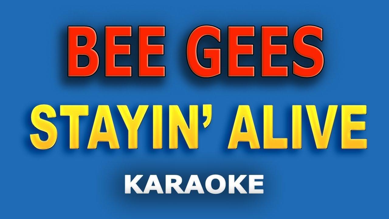 Bee Gees Stayin Alive Lyrics Youtube